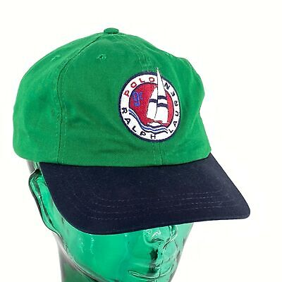 Polo Ralph Lauren Spelled Out Cap Sailboat 97 Boating Yachting Nautical USA • 66.27£