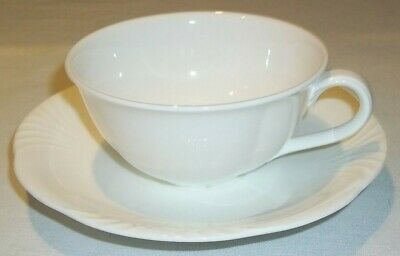 £14.86 • Buy Villeroy & And Boch Arco Weiss White Tea Cup And Saucer Like New