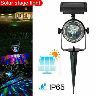 Solar LED Carnival Moving Colour Changing Spotlight Garden Party Stage Light • 19.88£