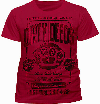 £14.99 • Buy  AC/DC T Shirt Dirty Deeds Done Dirt Cheap Official Angus Young Classic Rock Tee