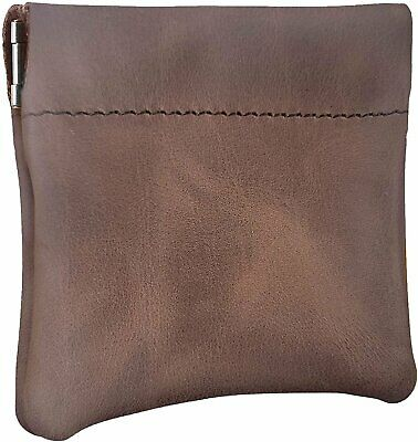 $8.99 • Buy Nabob Leather Genuine Leather Squeeze Coin Purse, Pouch Made IN U.S.A. Change...