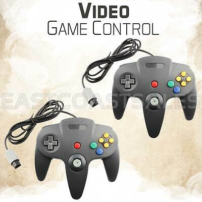$ CDN24.71 • Buy 2 For Nintendo N64 Remote Video Game Controller Pad Console Black