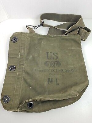 $26.99 • Buy Original US Military Field Protective Gas Mask Canvas Bag M9A1 Pouch Only USGI