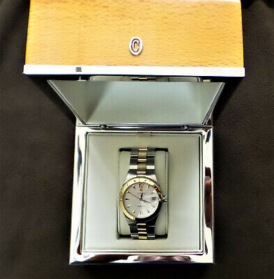 $1795 • Buy $ 3.900,- Rare Authentic Concord Mariner 18 K Gold & Ss Men's Dress Watch