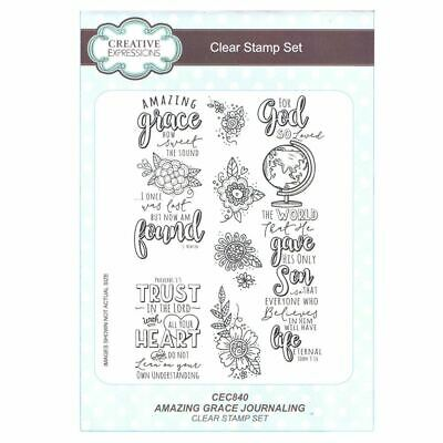 £8.50 • Buy Creative Expressions A5 Clear Stamp Set - CEC840 Journalling - Amazing Grace