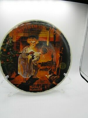 $ CDN15.11 • Buy Knowles Norman Rockwell 1979 Somebody's Up There Collector Plate COA Christmas