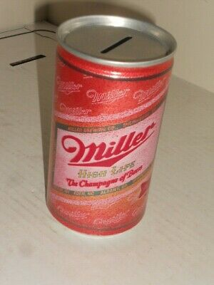 $39.95 • Buy Rare Miller High Life The Champaign Of Beers Beer Flat Top Can Bank Excellent