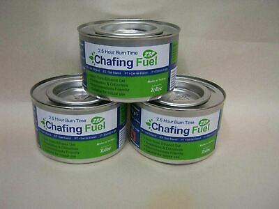 £8.99 • Buy 3 X Ethanol Chafing Gel Fuel Catering 2.5 Hr Burning BBQ Buffet Camping Parties