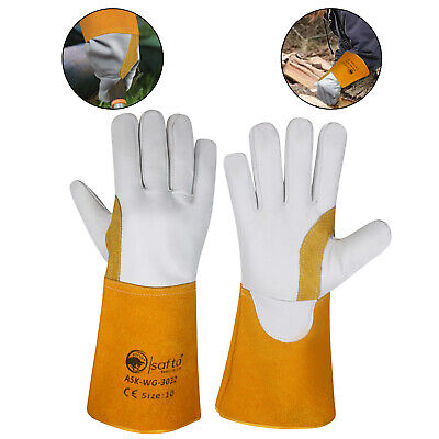 £6.49 • Buy Welding Gloves Cow Tig Gloves Mig Leather Wing Thumb Extra Pulse ASK-WG-3032