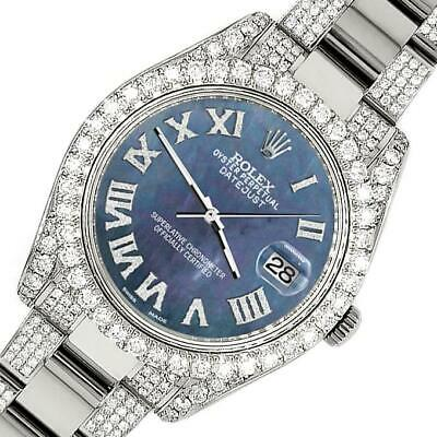 $ CDN19349.75 • Buy Rolex Datejust II 41mm Diamond Bezel/Lugs/Bracelet/Black Pearl Roman Dial Watch