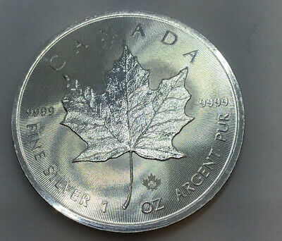 2015 1oz Silver Bullion Canada Maple Leaf Dollar Coin SKU-9999 • 35£
