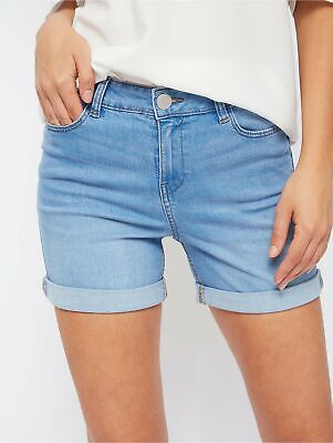 £9.99 • Buy DENIM JEAN STRETCHY SHORTS X GEORGE WOMENS CASUAL HOLIDAY FADED HOTPANTS 8 To 20