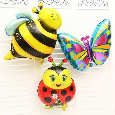 £1.89 • Buy Cartoon Frog Ladybird Bee Foil Balloons Animals Zoo Festival Party Supplies B2Z