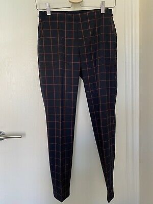 £5.99 • Buy UNIQLO EZY Women's Ankle Length Checked Trousers Navy XS
