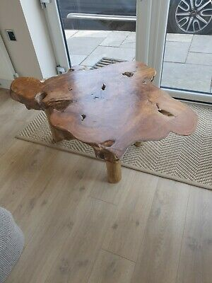 £180 • Buy Teak Tree Root Table, Natural, Live Edge, Shabby Chic, Rustic.