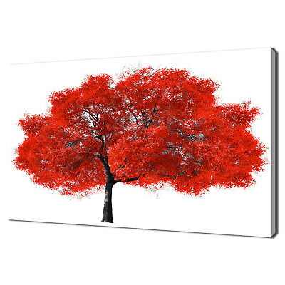 £69.99 • Buy Stunning Big Red Tree Modern Design Canvas Print Wall Art Picture