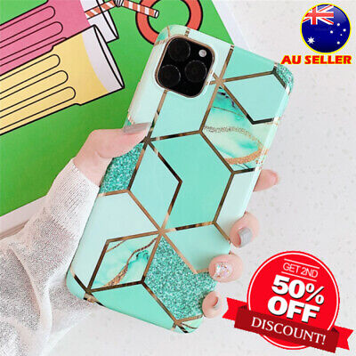 AU5.89 • Buy Soft Back Case ShockProof Marble Phone Cover For IPhone 11 12 XR XS MAX SE 8 7