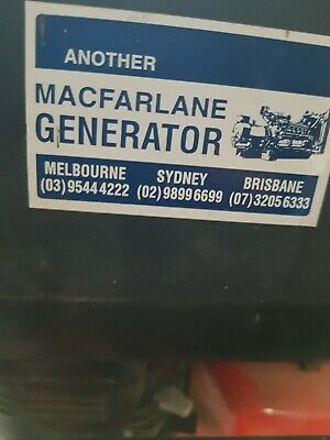 AU1000 • Buy 5.8 Kva Mcpharlin Generator  With Trolley Is Used But In Great Condition
