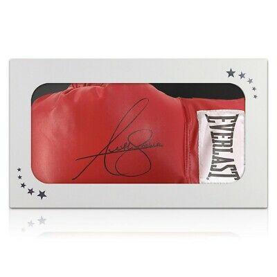 AU498 • Buy Anthony Joshua Signed Red Boxing Glove. In Gift Box