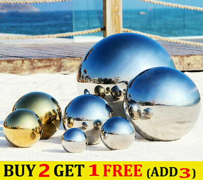 £7.59 • Buy 1x 304 Stainless Steel Mirror Hollow Sphere Gazing Ball For Home Garden Decor