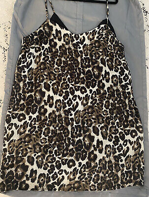 AU10 • Buy ASOS Leopard Slip Dress Size 16/18