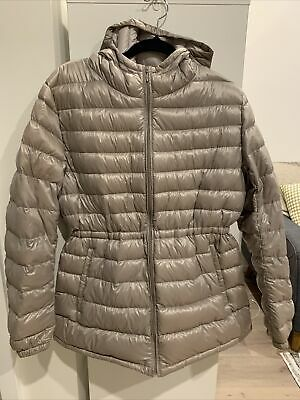 AU35 • Buy Uniqlo Feather Down Lightweight Hooded Puffer Jacket Ladies Size XL (14)