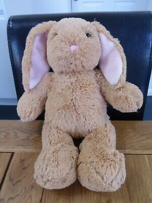 £3.99 • Buy Build A Bear Workshop 15  Light Brown Bunny Rabbit With Pink Ears Soft Toy