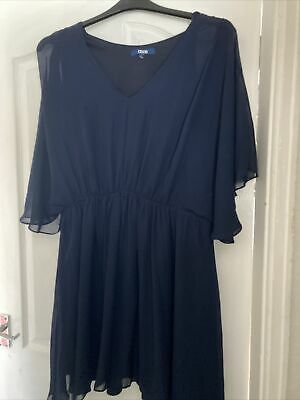 AU14.31 • Buy Asos Curve Navy Dress Size 20