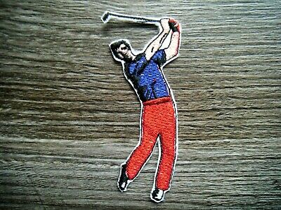 £2.50 • Buy Golf Golfer Golfing Patch Embroidered Sew Or Iron On Embroidery Golf Man