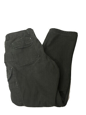 $39.99 • Buy Duluth Trading Co Cargo Pants Mens 36x34 Canvas Workwear Fleece Lined EUC Olive