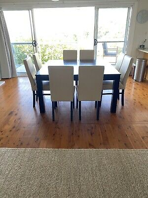 AU540 • Buy Dining Table 8 Seater With 8 Leather Chairs