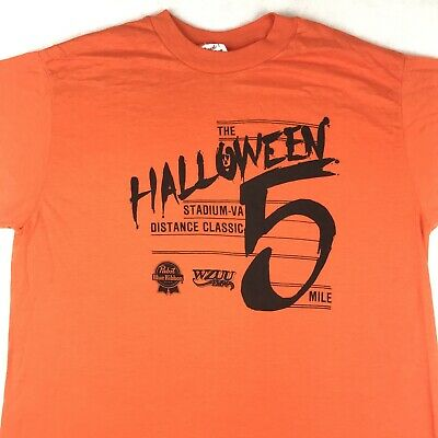 $ CDN36.38 • Buy NOS Vtg 70s HALLOWEEN PBR WZUU MILWAUKEE RADIO PAPER THIN T-Shirt M Pabst 80s