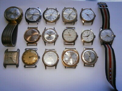 $ CDN44.32 • Buy Job Lot Of Vintage Gents Watches Mechanical Watches Spares Or Repair Swiss Made
