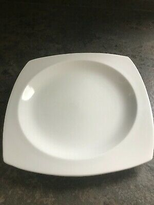£16 • Buy Square Plates - Set Of 6 - Deep And Good Weight. Used  - FREE DELIVERY