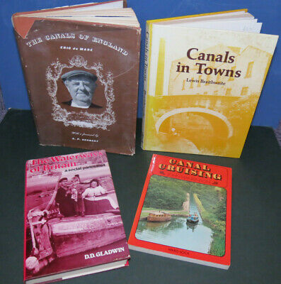 4 Books Canal Cruising, Canals In Towns, Waterways Of Britain, Canals Of England • 22.99£