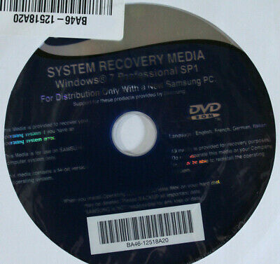 Samsung System Recovery DVD - Windows 7 Professional SP1  • 5.99£