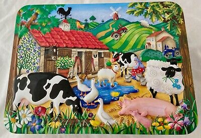 CHURCHILLS The Farmyard Tin - Churchill's Farmyard Sweet Tin Empty • 14.99£
