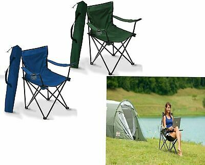 £13.99 • Buy Folding Fishing Chair Picnic Seat Cup Holder Garden Outdoor Camping