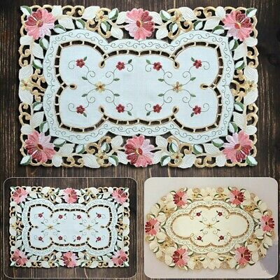 £6.72 • Buy Set Of 1 Placemats Dining Table Mats Vintage Embroidered Lace Doilies Kitchen
