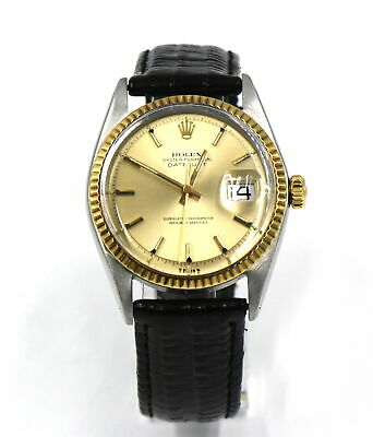 AU3123.19 • Buy VINTAGE ROLEX DATEJUST 1601 WRISTWATCH PIE PAN DIAL 14K GOLD STAINLESS C1973