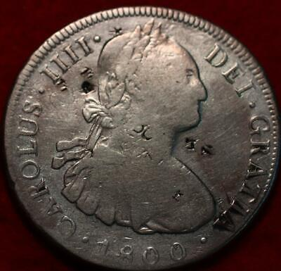AU40.24 • Buy 1800 Spain 8 Reales Silver Chopmarks Foreign Coin