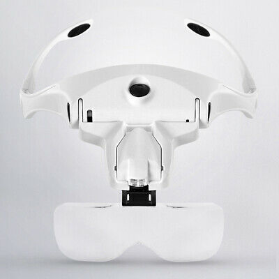 £9.99 • Buy Magnifying Glass Headset 2 LED Light Head Headband Magnifier 5 Lens With Box UK
