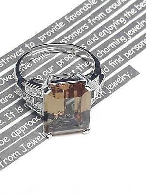 View Details 💝💐6ct Emerald Cut Nano Simulated Zultanite Color Change 925 S.S Ring  • 23.50£