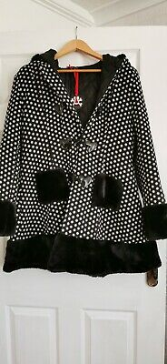 £38 • Buy Hell Bunny Gothic Coat New With Tags Size Large