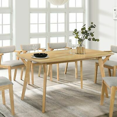 AU215 • Buy Natural Solid Rubberwood 6-Seater Dining Table