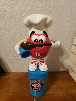 $29.99 • Buy RARE  M&M's MINIS Choco Red Chef Candy Dispenser - Red Large Eyes!!