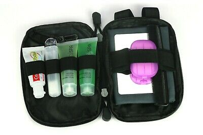 £11.99 • Buy COMPACT WASH KIT Shower Mirror Towel Hygiene Toiletry Holiday Travel Bag UK-Made
