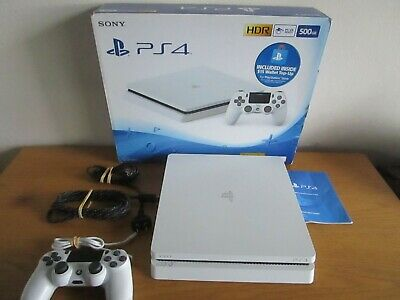 AU359 • Buy Sony PS4 PlayStation 4 Slim Console 500GB Glacier White Ps4  Controller Boxed