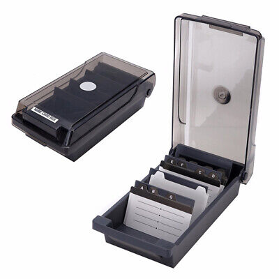 £12.39 • Buy 500 Cards Capacity Index Record Box With A-Z Guide Card 4 Support Plate Storage.