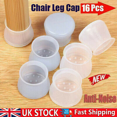 £3.84 • Buy Silicone Rubber Round Chair Leg Cap Feet Pads Furniture Covers Floor Protector